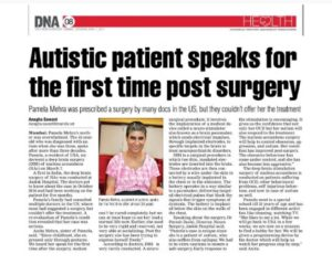 Autistic patient-speaks-for-first-time-post surgery-1-april-2017