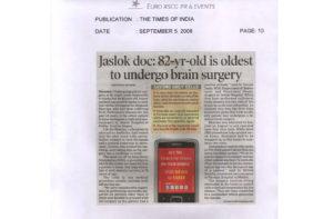 The times of india-5-9-08-pg-10-jaslok-hospital