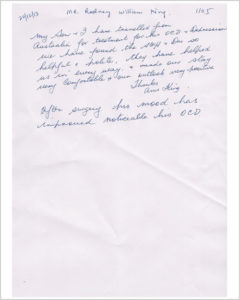 Appreciation Letter From Rodney King