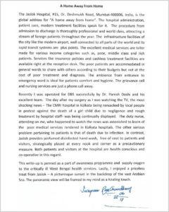 Letter By Patient