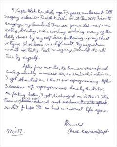 Letter By A Patient