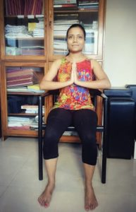 Chair-surya-namaskar-step 1